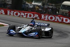 IndyCar: July 29 Honda Indy 200. July 29, 2018 - Lexington, Ohio, USA: ED JONES (10) of the United Arab Emirates battles for position during the Honda Indy 200 royalty free stock photography