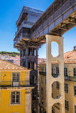10 July 2017 - Lisbon, Portugal. The Santa Justa Lift also called Carmo Lift is an elevator in Lisbon. The Santa Justa Lift also called Carmo Lift is an elevator Stock Image