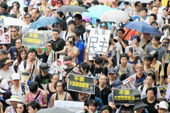1 july marches 2012 in Hong Kong Stock Photos