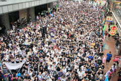 1 july marches 2012 in Hong Kong Stock Image