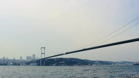 July 15 martyrs` bridge, Istanbul - Turkey. July 15 martyrs` bridge. cars are passing stock footage