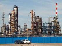 July 2016, Moscow, Russia. Moscow oil refinery in Kapotnya Royalty Free Stock Images