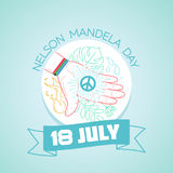 18  july   Nelson  Mandela  Day. Calendar for each day on july Stock Image