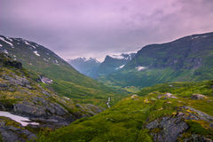 July 24, 2015: Panorama of the Geirangerfjord, world heritage si Stock Photos