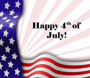 July 4 patriotic text frame Royalty Free Stock Photo