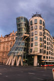 July 31 2016 Prague, Czech Republic: Dancing house building in capital city modern architecture Stock Photo