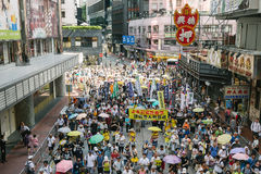 1 July protest in Hong Kong royalty free stock images