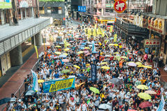 1 July protest in Hong Kong royalty free stock photography