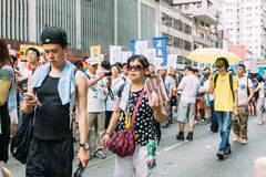 1 July protest in Hong Kong Royalty Free Stock Photo