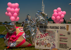 July 26, 2015. Red Bull Flugtag. Before the competition starts. Before the start only a few minutes. The weather is great, clear. Launch pad ready. Operators Stock Photos