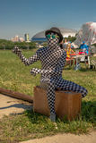 July 26, 2015. Red Bull Flugtag. Before the competition starts. Before the start only a few minutes. The weather is great, clear. Launch pad ready. Operators Royalty Free Stock Photo