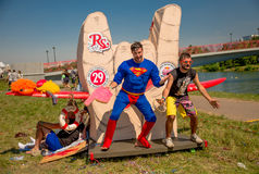 July 26, 2015. Red Bull Flugtag. Before the competition starts. Stock Images