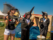 July 26, 2015. Red Bull Flugtag. Before the competition starts. Before the start only a few minutes. The weather was excellent, clear. Launch pad ready Royalty Free Stock Image