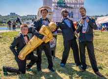 July 26, 2015. Red Bull Flugtag. Before the competition starts. Royalty Free Stock Image