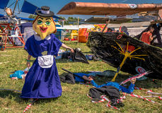 July 26, 2015. Red Bull Flugtag. Before the competition starts. Before the start only a few minutes. The weather was excellent, clear. Launch pad ready Royalty Free Stock Photos