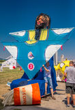 July 26, 2015. Red Bull Flugtag. Before the competition starts. Before the start only a few minutes. The weather was excellent, clear. Launch pad ready Stock Images