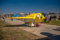 July 26, 2015. Red Bull Flugtag. Before the competition starts. Before the start only a few minutes. The weather was excellent, clear. Launch pad ready Royalty Free Stock Photography