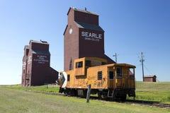 Old Wood Grain Elevator Prairies royalty free stock photo