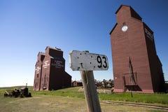 Old Wood Grain Elevator Prairies stock images