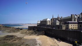 July, 2019, Saint-Malo, France. A city and port in northwestern France, located in the Brittany region.