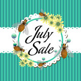 July sale Royalty Free Stock Photography
