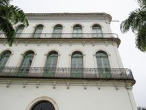 July 22, 2018, Santos, São Paulo, Brazil, Valongo mansion in the historic center, current Pele Museum. July 22, 2018, Santos, São Paulo, Brazil, Valongo royalty free stock images
