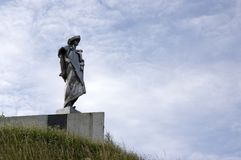 July 10, 2016, place of interest, Juraj Janosik statue, Terchova, Slovakia stock photography
