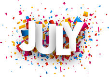 Free July Sign. Royalty Free Stock Image - 90096956
