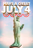 July 4 Statue of Liberty Royalty Free Stock Photo