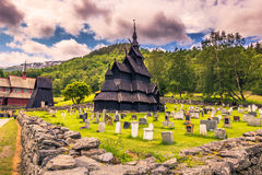 July 23, 2015: Stave church of Borgund in Laerdal, Norway Stock Photo