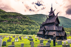 July 23, 2015: Stave church of Borgund in Laerdal, Norway Royalty Free Stock Photography