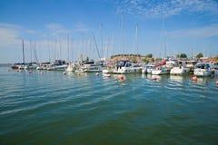 July sunny day in the city marina, Hanko