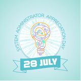 28 july  System Administrator  Day. Calendar for each day on july Royalty Free Stock Image