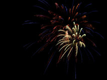 July 4th Aerial Fireworks Royalty Free Stock Images