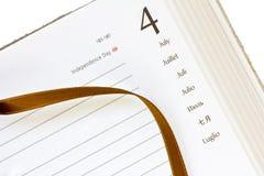 July 4th diary Stock Photo