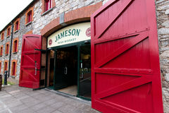 July 29th, 2017, Distillers Walk, Midleton, Co Cork, Ireland - Main entrance to the Jameson Experience. An Irish whiskey museum and visitor centre located in stock photography