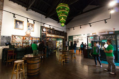 July 29th, 2017, Distillers Walk, Midleton, Co Cork, Ireland - Main hall inside the Jameson Experience. An Irish whiskey museum and visitor centre located in royalty free stock photos