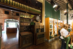 July 29th, 2017, Distillers Walk, Midleton, Co Cork, Ireland - Merchandise shop inside Jameson Experience. An Irish whiskey museum and visitor centre located royalty free stock photos