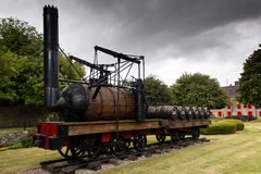 July 29th, 2017, Distillers Walk, Midleton, Co Cork, Ireland - Small delivery train at the Jameson Experience. An Irish whiskey museum and visitor centre royalty free stock images