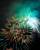 July 4th Fire Works. Celebration Stock Images