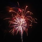July 4th Fireworks Celebration in North Carolina. Celebrating the 4th of July with fireworks in North Carolina on a clear night Royalty Free Stock Image