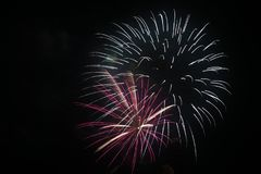July 4th Fireworks Celebration in North Carolina. Celebrating the 4th of July with fireworks in North Carolina on a clear night Royalty Free Stock Photo