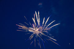 July 4th fireworks. Fireworks on July 4, 2015 in Floresville, Texas Stock Photography