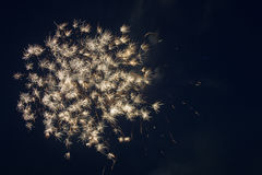July 4th fireworks. Fireworks on July 4, 2015 in Floresville, Texas Royalty Free Stock Photo