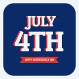 July 4th happy independence day Royalty Free Stock Photography