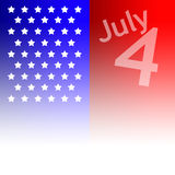 July 4th illustration Royalty Free Stock Images