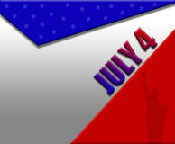 July 4th illustration royalty free illustration