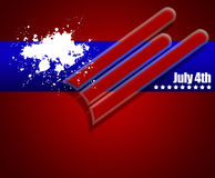 July 4th illustration Royalty Free Stock Photography