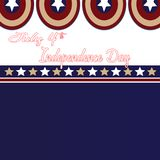 July 4th Independence Day. Stars and Captain Americao  background. July 4th Independence Day. Stars, Circle Red, Blue White, Captain America Icon Background. For Stock Image