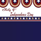 July 4th Independence Day. Stars and Captain Americao isolated background. July 4th Independence Day. Stars, Circle Red, Blue White, Captain America Icon Royalty Free Stock Image